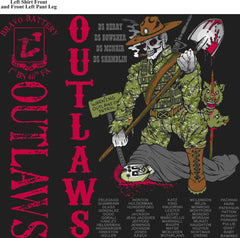 PLATOON SHIRTS (2nd generation print) BRAVO 1st 40th OUTLAWS  APR 2016