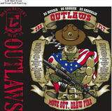PLATOON SHIRTS (2nd generation print) BRAVO 1st 40th OUTLAWS JULY 2016