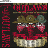 Platoon Shirts BRAVO 1st 40th OUTLAWS SEPT 2015