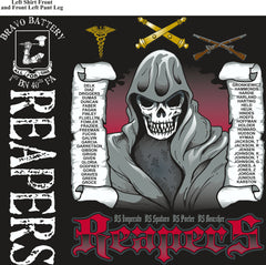 PLATOON SHIRTS (2nd generation print) BRAVO 1st 40th REAPERS JAN 2017