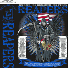 PLATOON SHIRTS (2nd generation print) BRAVO 1st 40th REAPERS JULY 2016