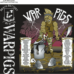 PLATOON SHIRTS (2nd generation print) BRAVO 1st 40th WARPIGS JAN 2017