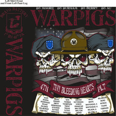 PLATOON SHIRTS (2nd generation print) BRAVO 1st 40th WARPIGS JULY 2016