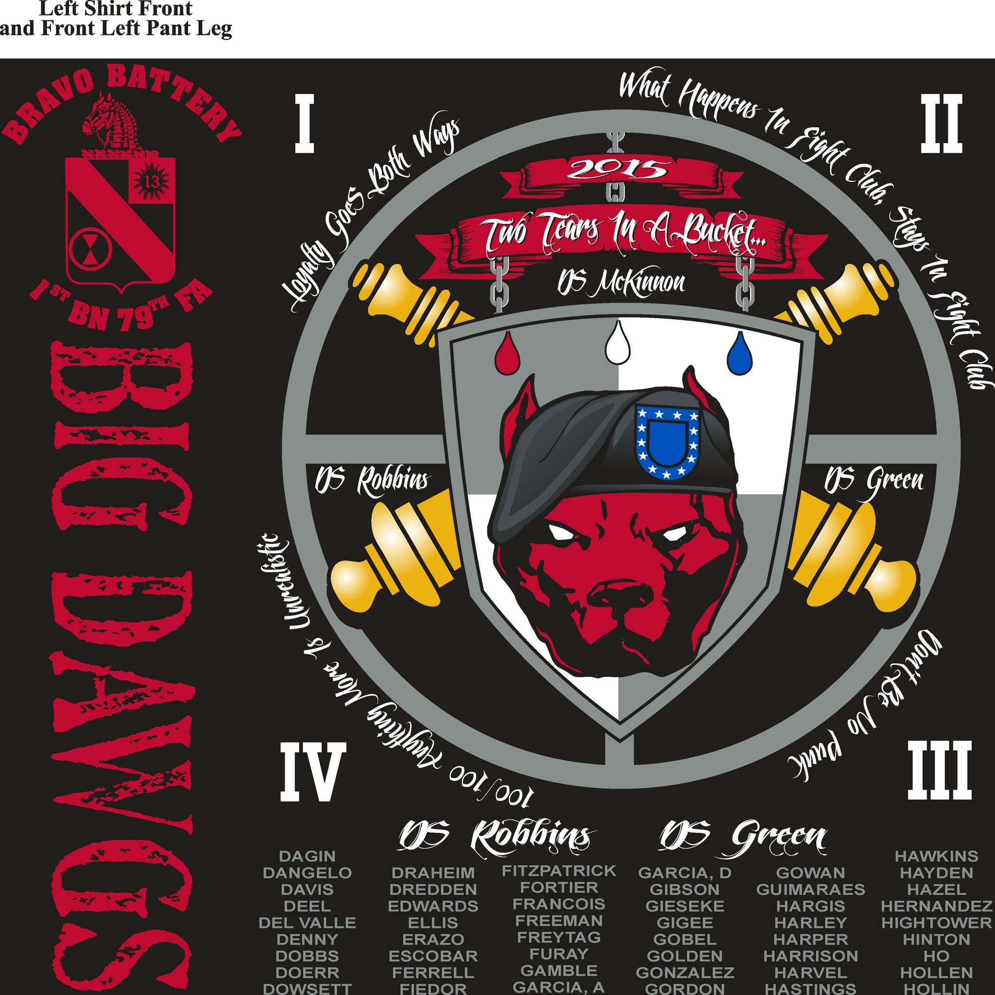 Platoon Shirts BRAVO 1st 79th BIG DAWGS MAY 2015
