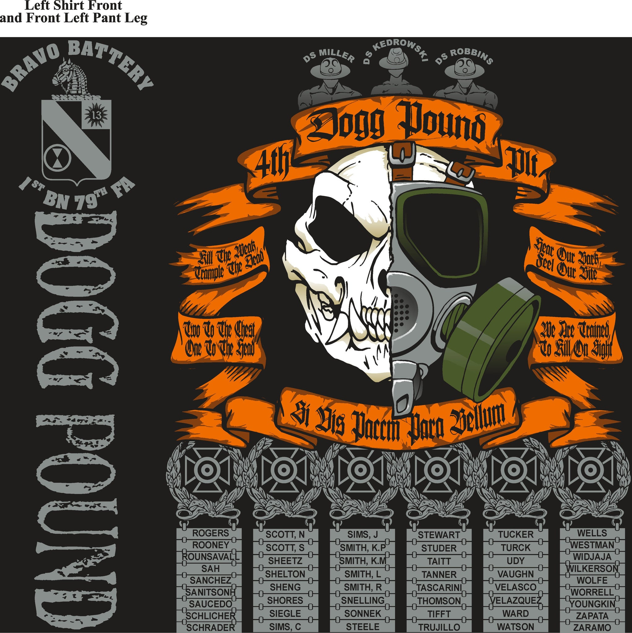 Platoon Shirts BRAVO 1st 79th DOGPOUND JAN 2015