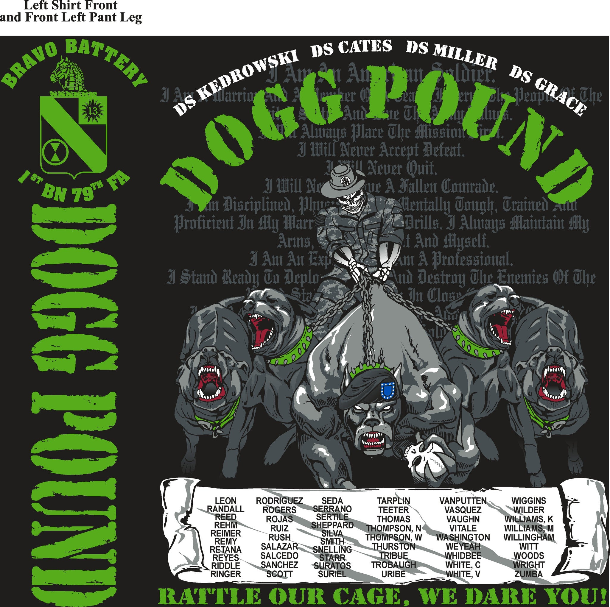 Platoon Shirts BRAVO 1st 79th DOGG POUND MAY 2015