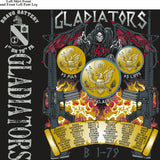 PLATOON SHIRTS (2nd generation print) BRAVO 1st 79th GLADIATORS AUG 2016