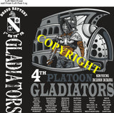 Platoon Shirts (2nd generation print) BRAVO 1st 79th GLADIATORS FEB 2020