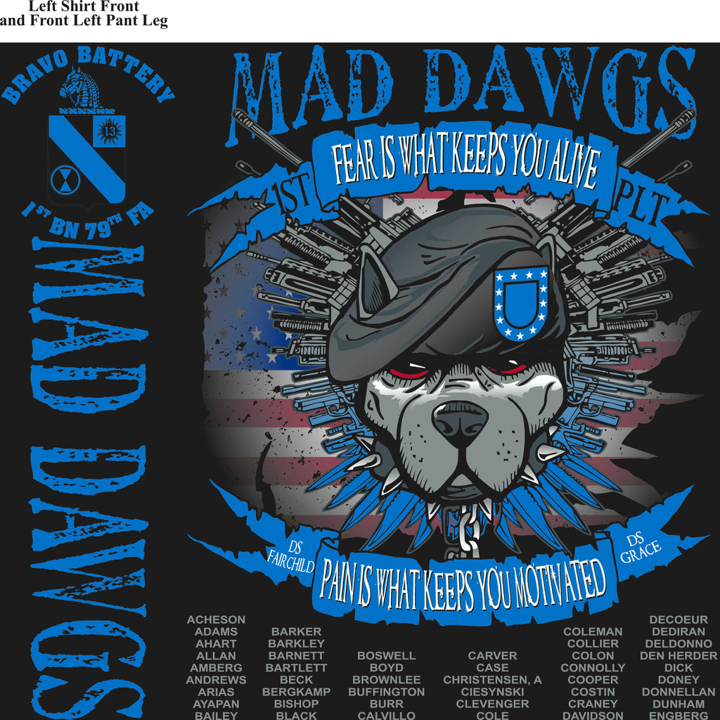 Platoon Shirts (digital) BRAVO 1st 79th MADDAWGS AUG 2015