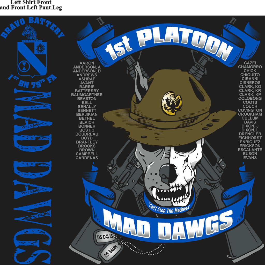 Platoon Shirts (digital) BRAVO 1st 79th MADDAWGS JAN 2015