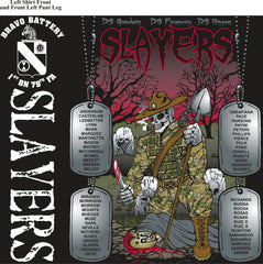 Platoon Shirts (2nd generation print) BRAVO 1ST 79TH SLAYERS DEC 2017