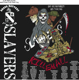 Platoon Shirts (2nd generation print) BRAVO 1ST 79TH SLAYERS SEPT 2017