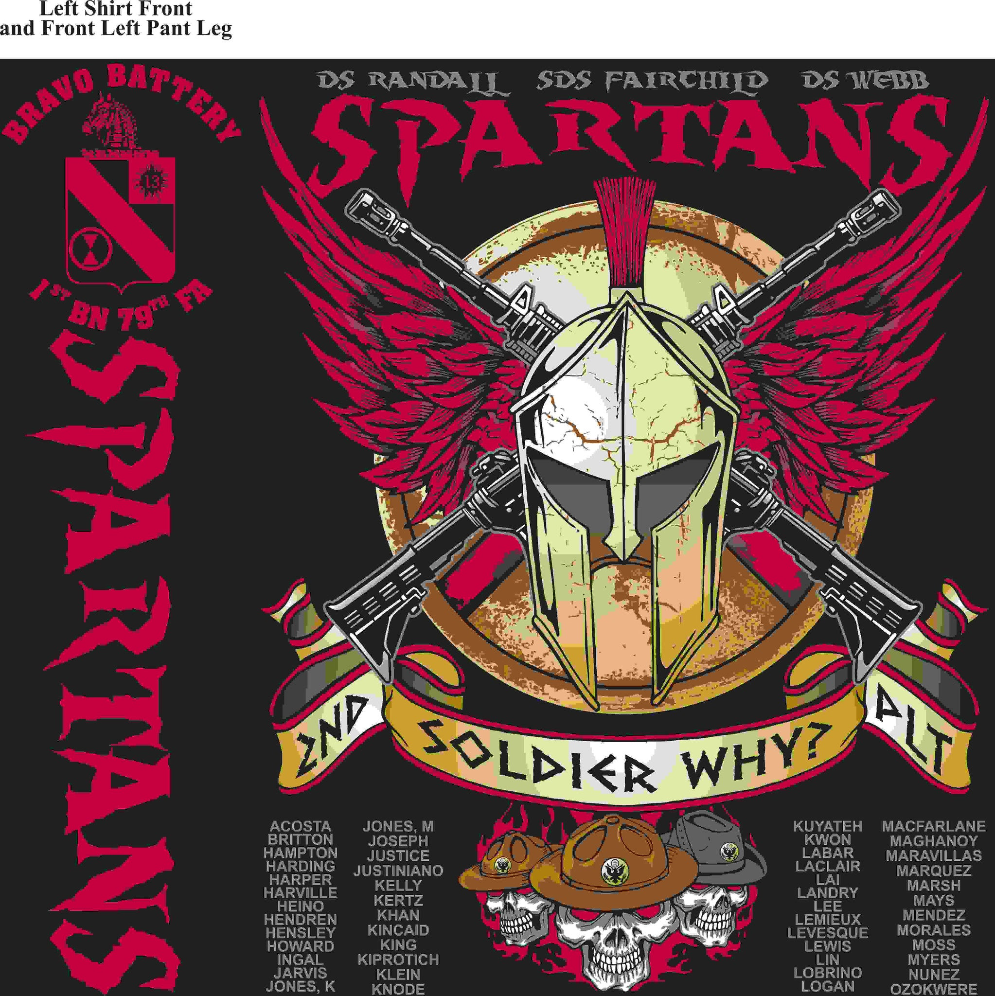 PLATOON SHIRTS (digital) BRAVO 1st 79th SPARTANS FEB 2016