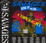 Platoon Shirts (2nd generation print) CHARLIE 1st 40th SAVAGES MAY 2020