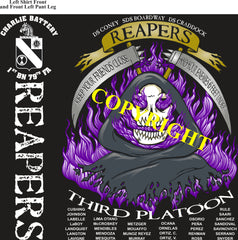 Platoon Shirts (2nd generation print) CHARLIE 1st 79th REAPERS MAY 2021