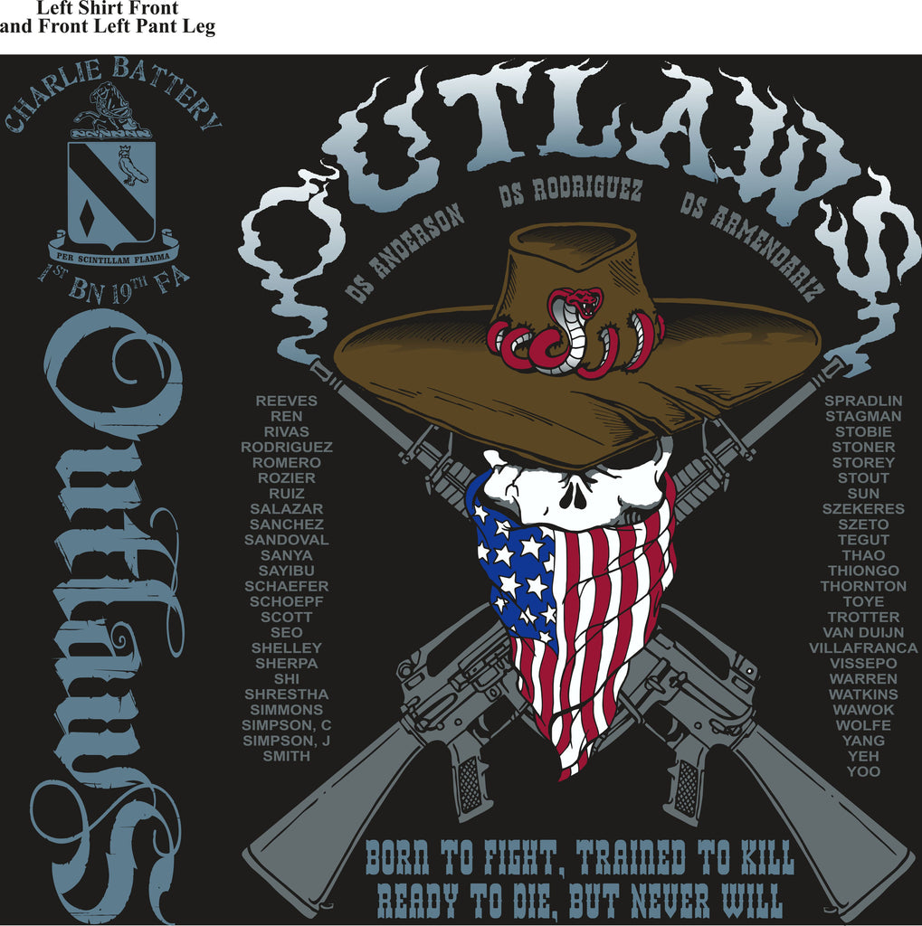 PLATOON SHIRTS (digital) CHARLIE 1st 19th OUTLAWS FEB 2016