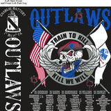 PLATOON SHIRTS (2nd generation print) CHARLIE 1st 19th OUTLAWS JUNE 2017