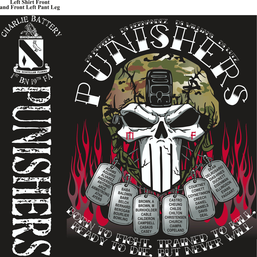 PLATOON SHIRTS (2nd generation print) CHARLIE 1st 19th PUNISHERS MAR 2017