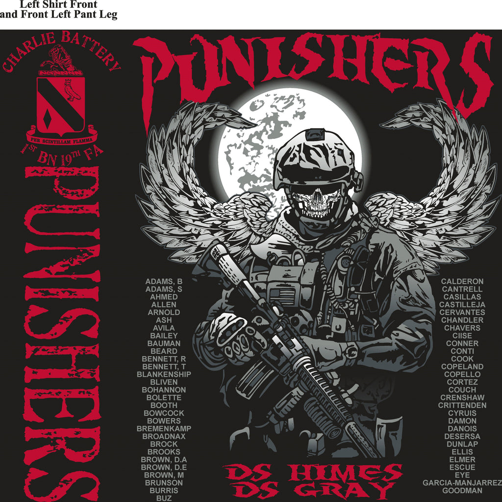Platoon Shirts (digital) CHARLIE 1st 19th PUNISHERS AUG 2015