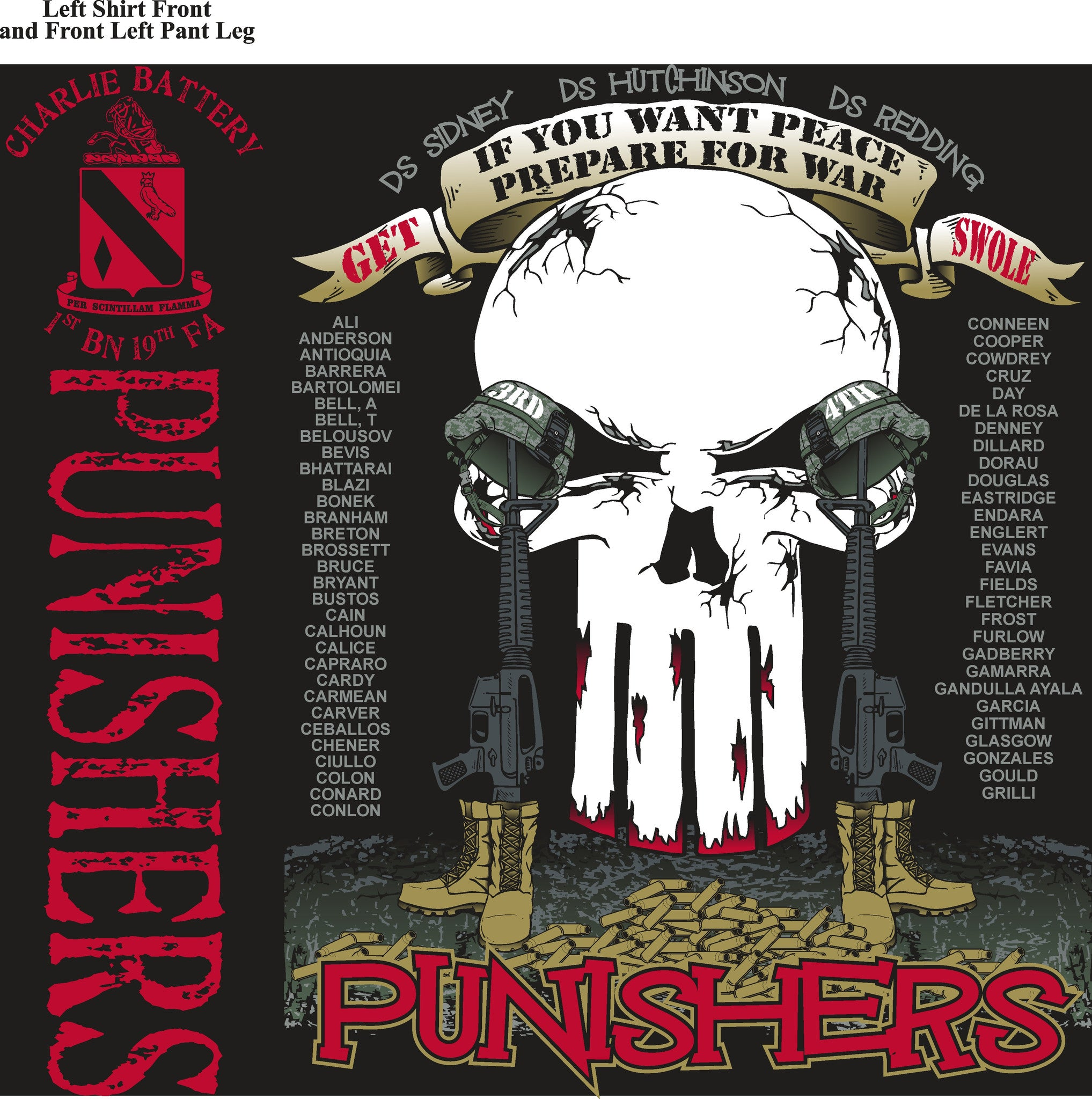 Platoon Shirts (digital) CHARLIE 1st 19th PUNISHERS MAY 2015
