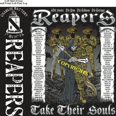 Platoon Shirts (2nd generation print) CHARLIE 1st 19th REAPERS DEC 2018