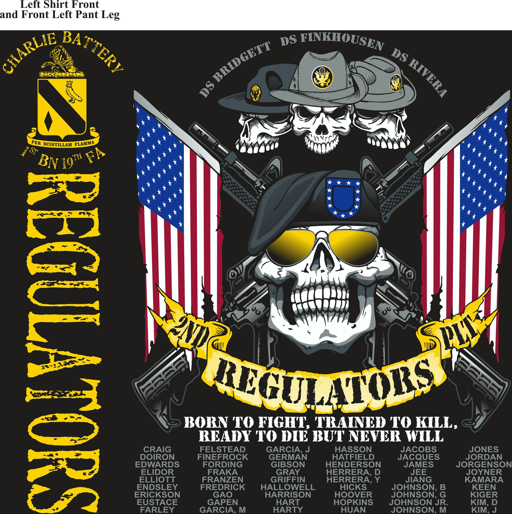 PLATOON SHIRTS (digital) CHARLIE 1st 19th REGULATORS FEB 2016