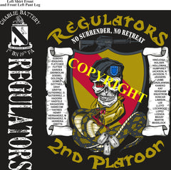 Platoon Shirts (2nd generation print) CHARLIE 1st 19th REGULATORS FEB 2020
