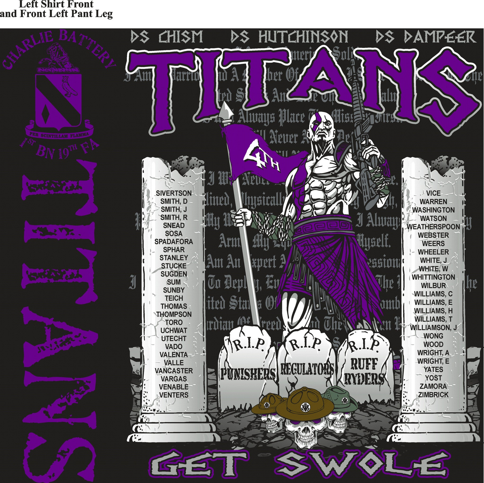 Platoon Shirts (digital) CHARLIE 1st 19th TITANS AUG 2015