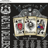Platoon Shirts (2nd generation print) CHARLIE 1st 31st DEATH DEALERS AUG 2018