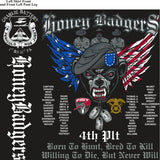 PLATOON SHIRTS (2nd generation print) CHARLIE 1st 31st HONEY BADGERS OCT 2016