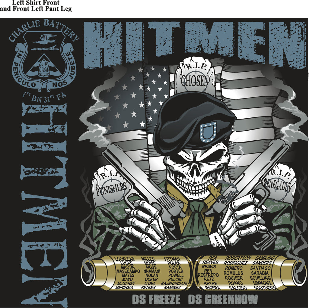 Platoon Shirts (digital) CHARLIE 1st 31st HITMEN APR 2015