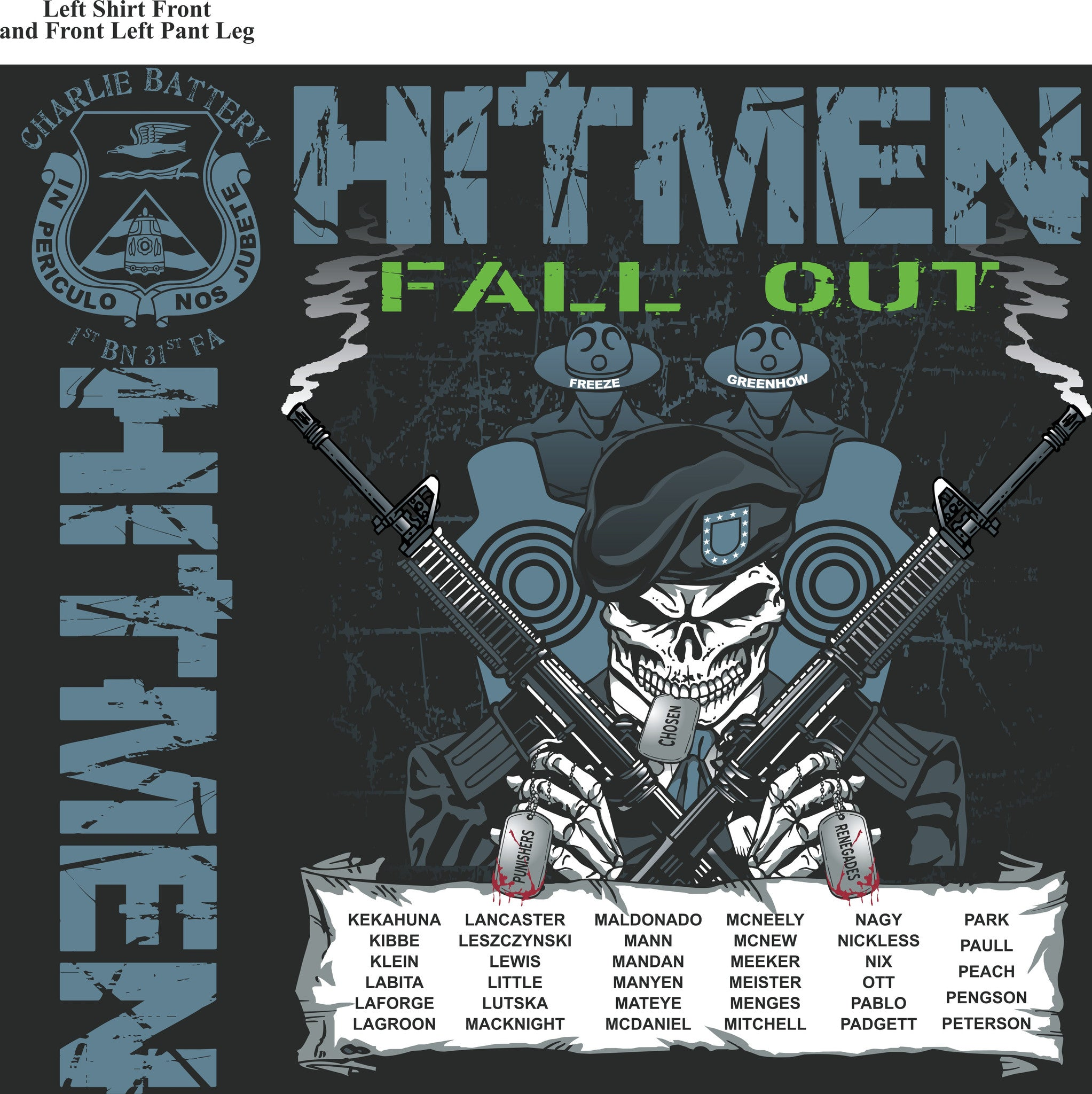 Platoon Shirts (digital) CHARLIE 1st 31st HITMEN JULY 2015