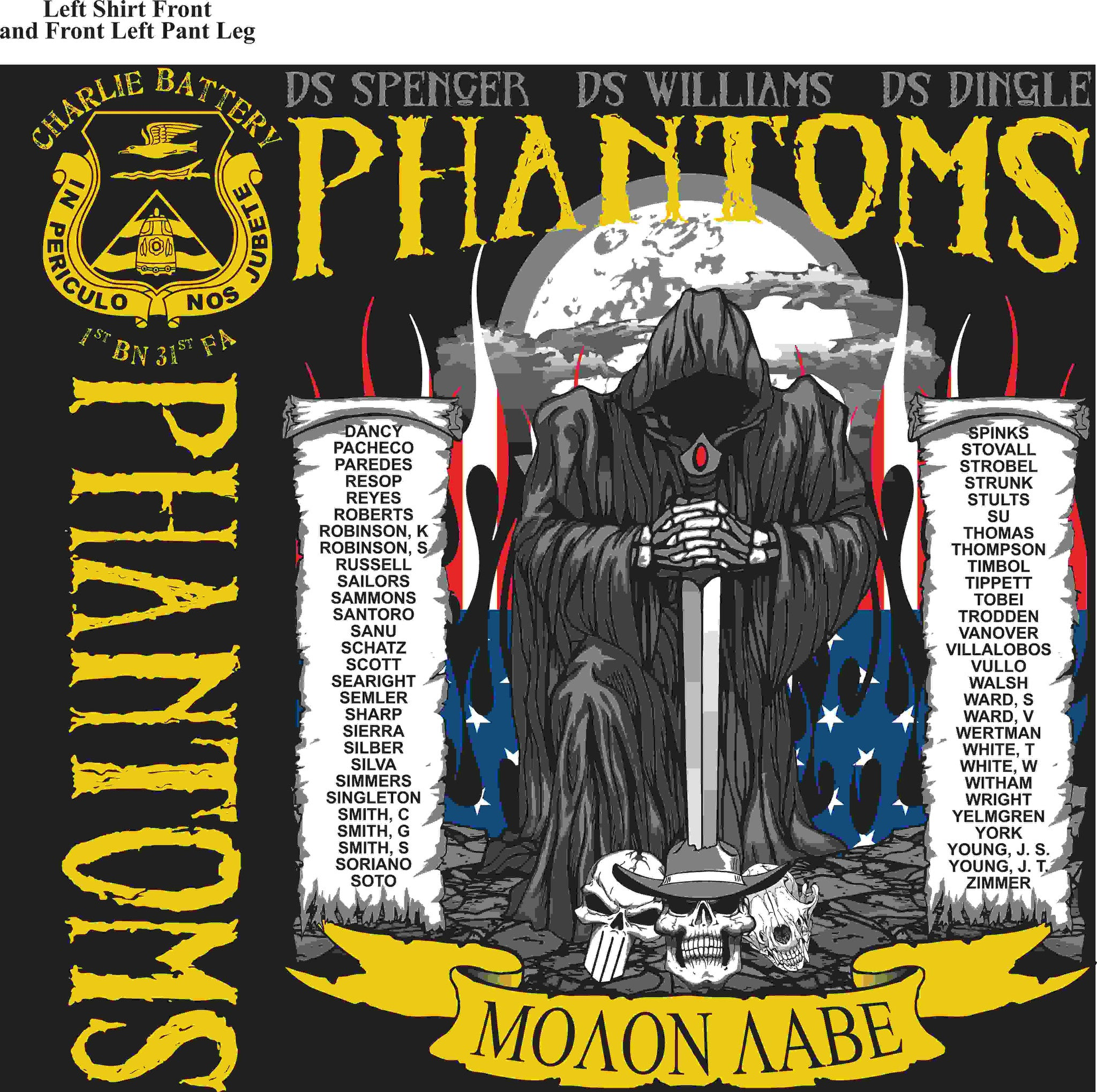 PLATOON SHIRTS (digital) CHARLIE 1st 31st PHANTOMS JAN 2016
