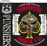 PLATOON SHIRTS (2nd generation print) CHARLIE 1st 31st PUNISHERS MAY 2017