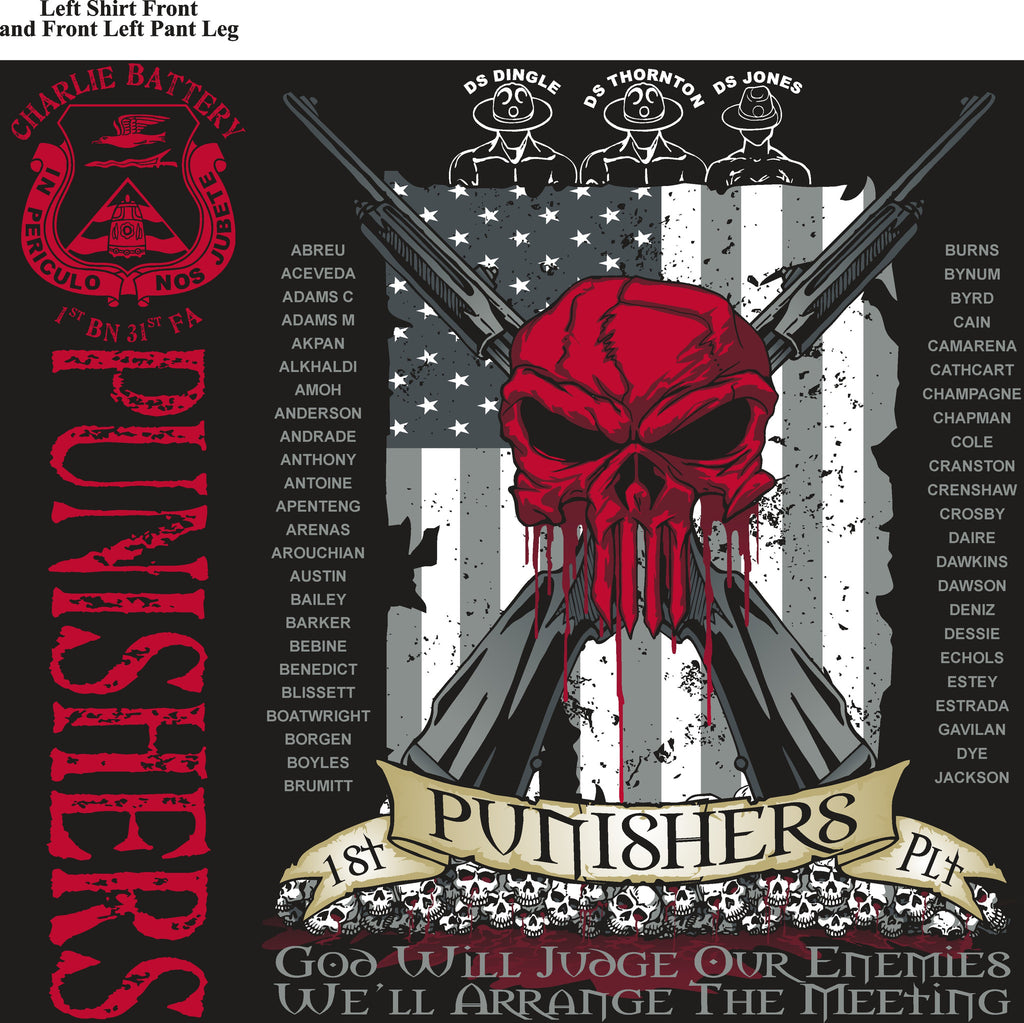 Platoon Shirts (digital) CHARLIE 1st 31st PUNISHERS APR 2015