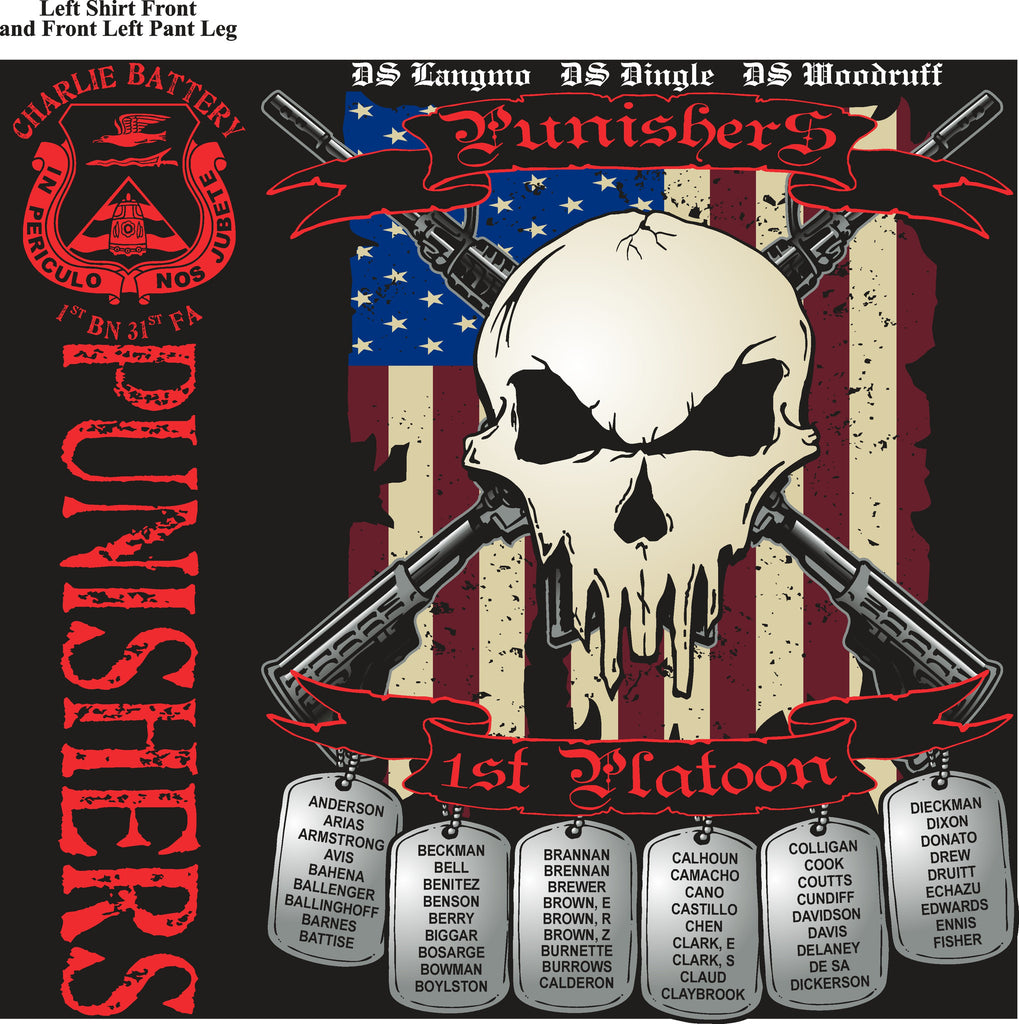 Platoon Shirts (digital) CHARLIE 1st 31st PUNISHERS JAN 2015