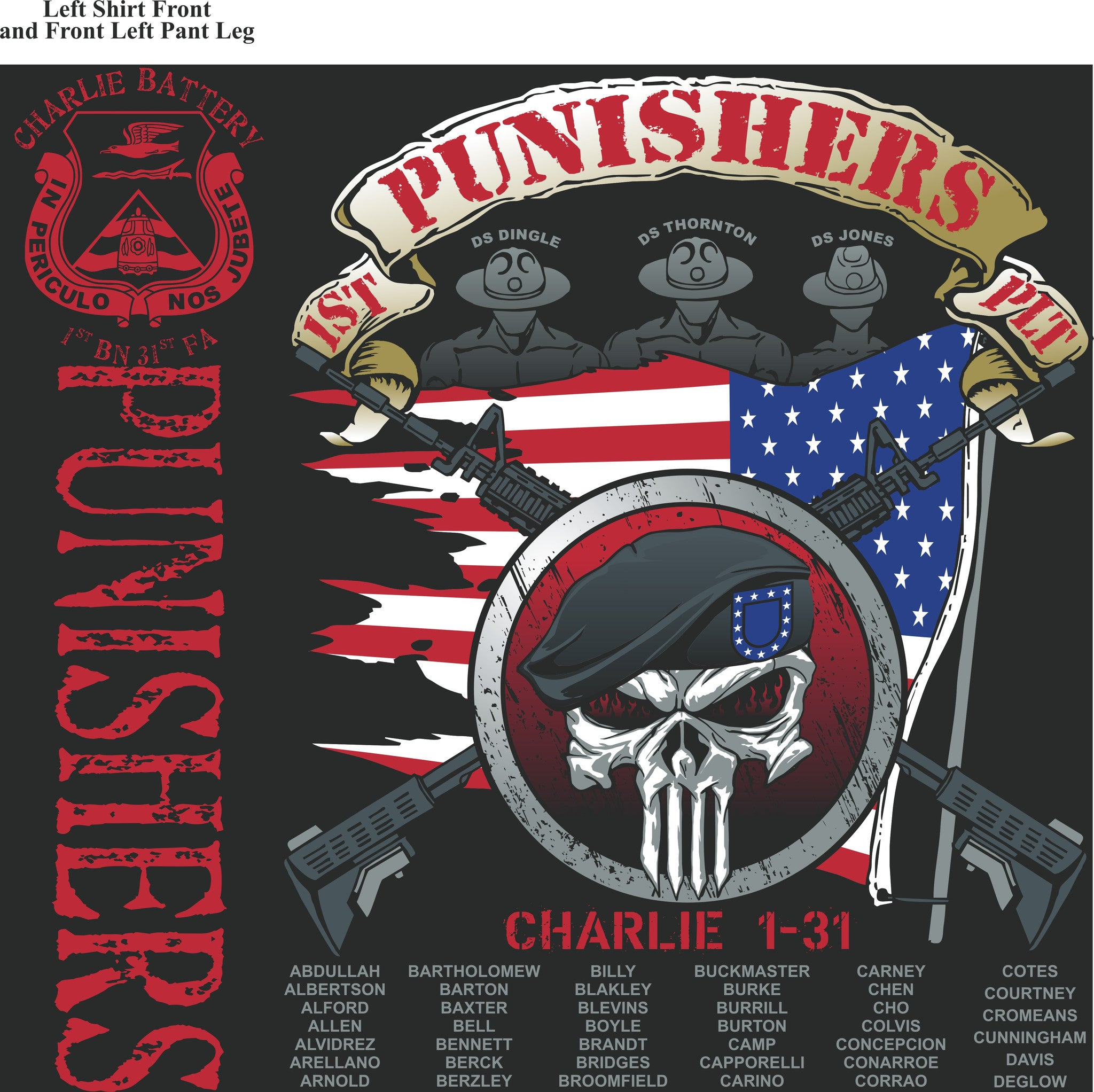Platoon Shirts (digital) CHARLIE 1st 31st PUNISHERS JULY 2015