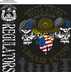 Platoon Shirts (2nd generation print) CHARLIE 1st 31st REGULATORS FEB 2019