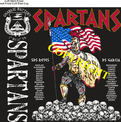 Platoon Shirts (2nd generation print) CHARLIE 1st 31st SPARTANS MAY 2019