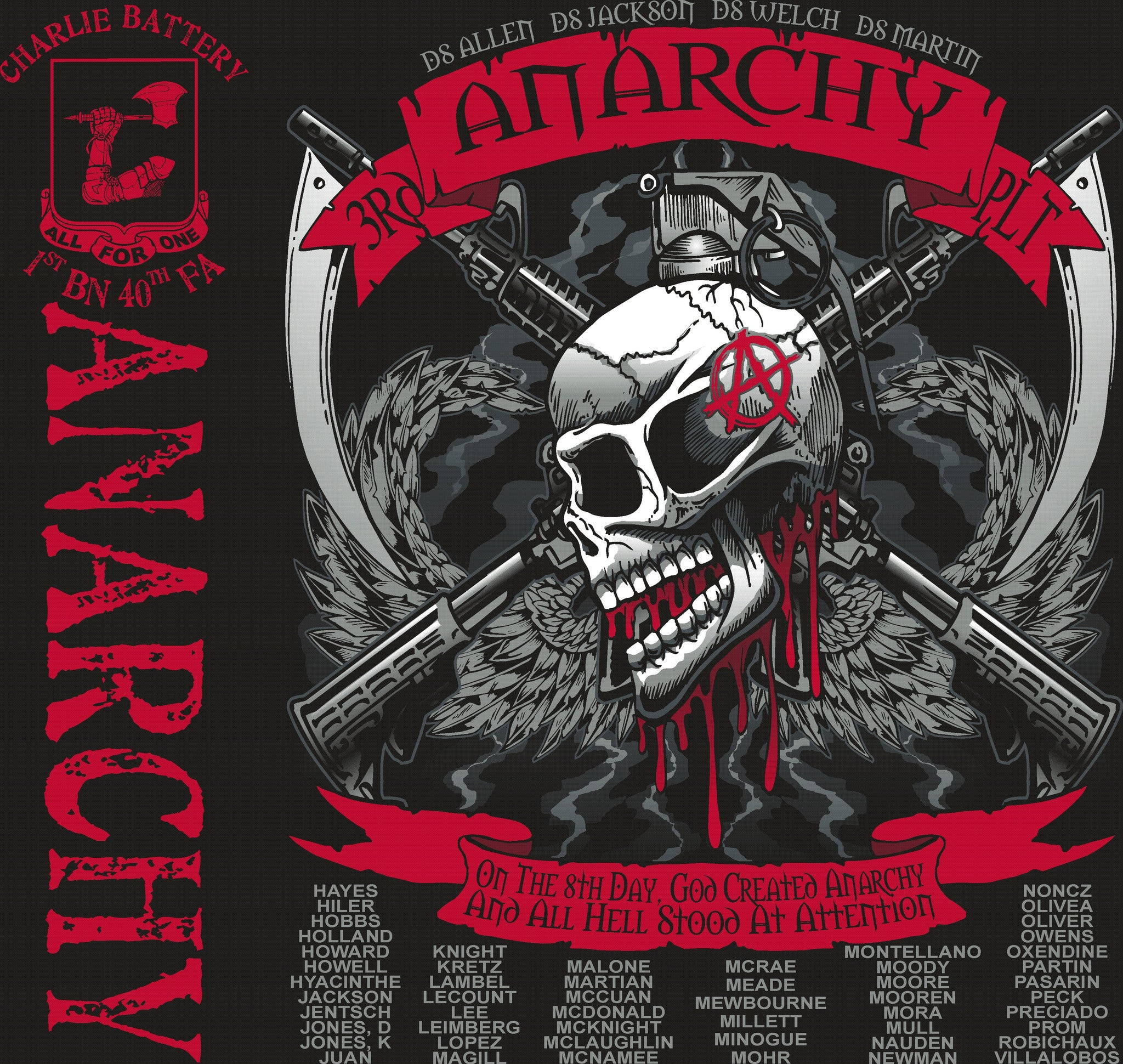 Platoon Shirts (digital) CHARLIE 1st 40th ANARCHY JULY 2015