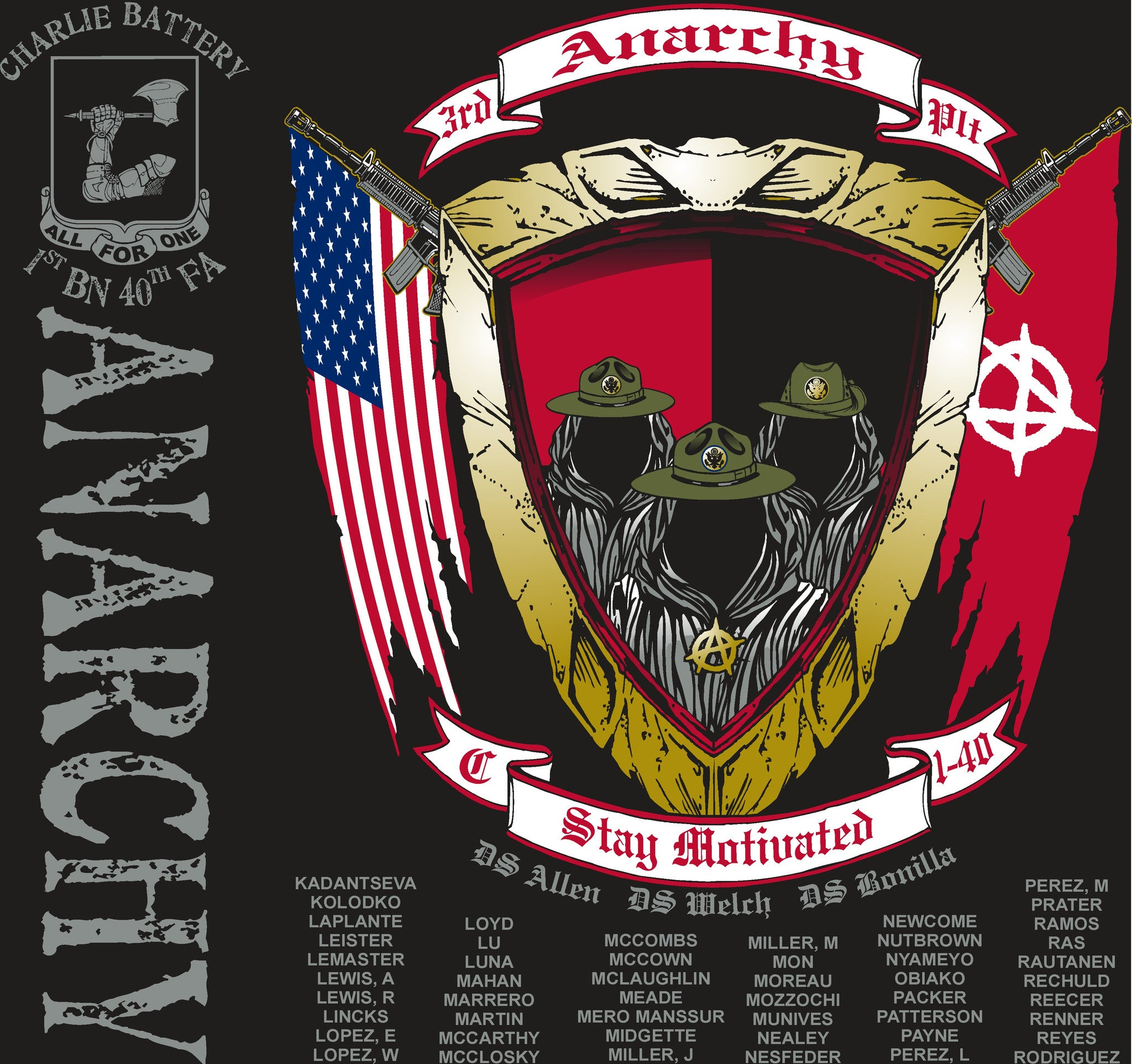 Platoon Shirts (digital) CHARLIE 1st 40th ANARCHY APR 2015