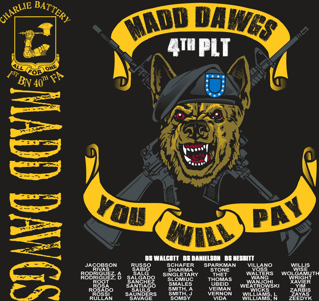 Platoon Shirts (digital) CHARLIE 1st 40th MADD DAWGS APR 2015