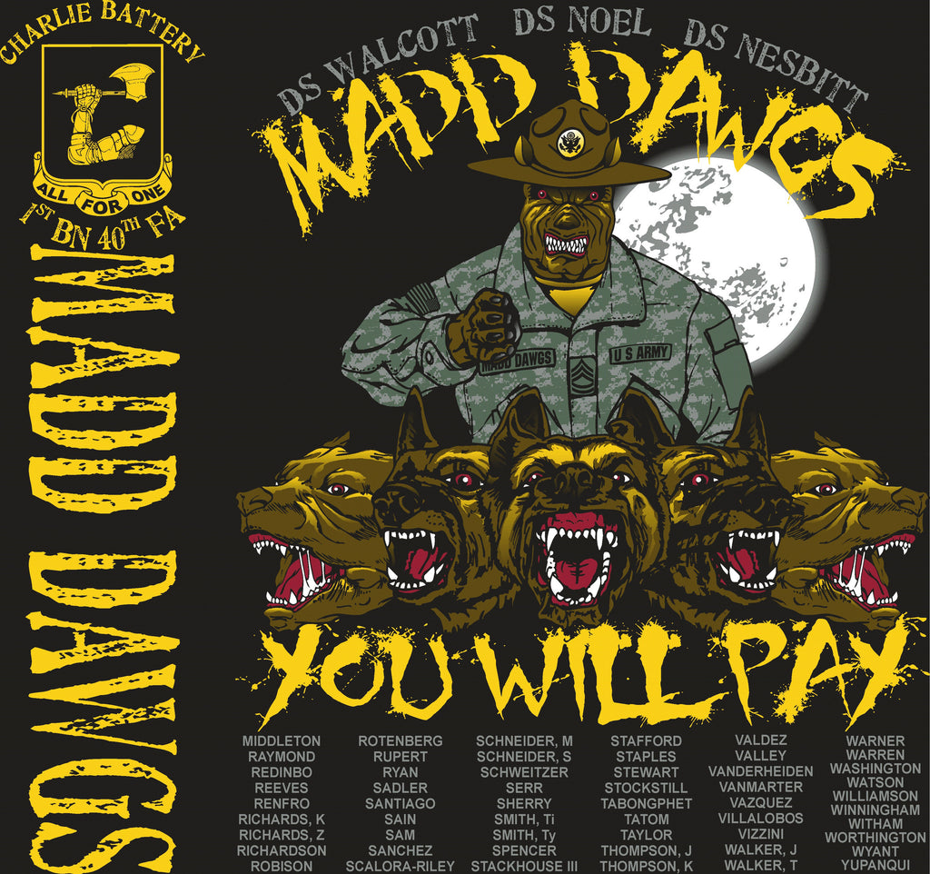 Platoon Shirts CHARLIE 1st 40th MADD DAWGS JULY 2015