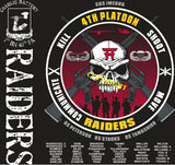 Platoon Shirts (2nd generation print) CHARLIE 1st 40th RAIDERS DEC 2018