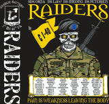 Platoon Shirts (2nd generation print) CHARLIE 1ST 40TH RAIDERS NOV 2017