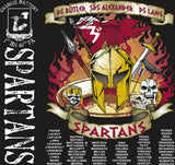 Platoon Shirts (2nd generation print) CHARLIE 1ST 40TH SPARTANS NOV 2017