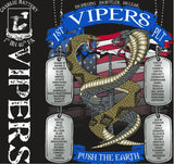 PLATOON SHIRTS (2nd generation print) CHARLIE 1ST 40TH VIPERS SEPT 2017