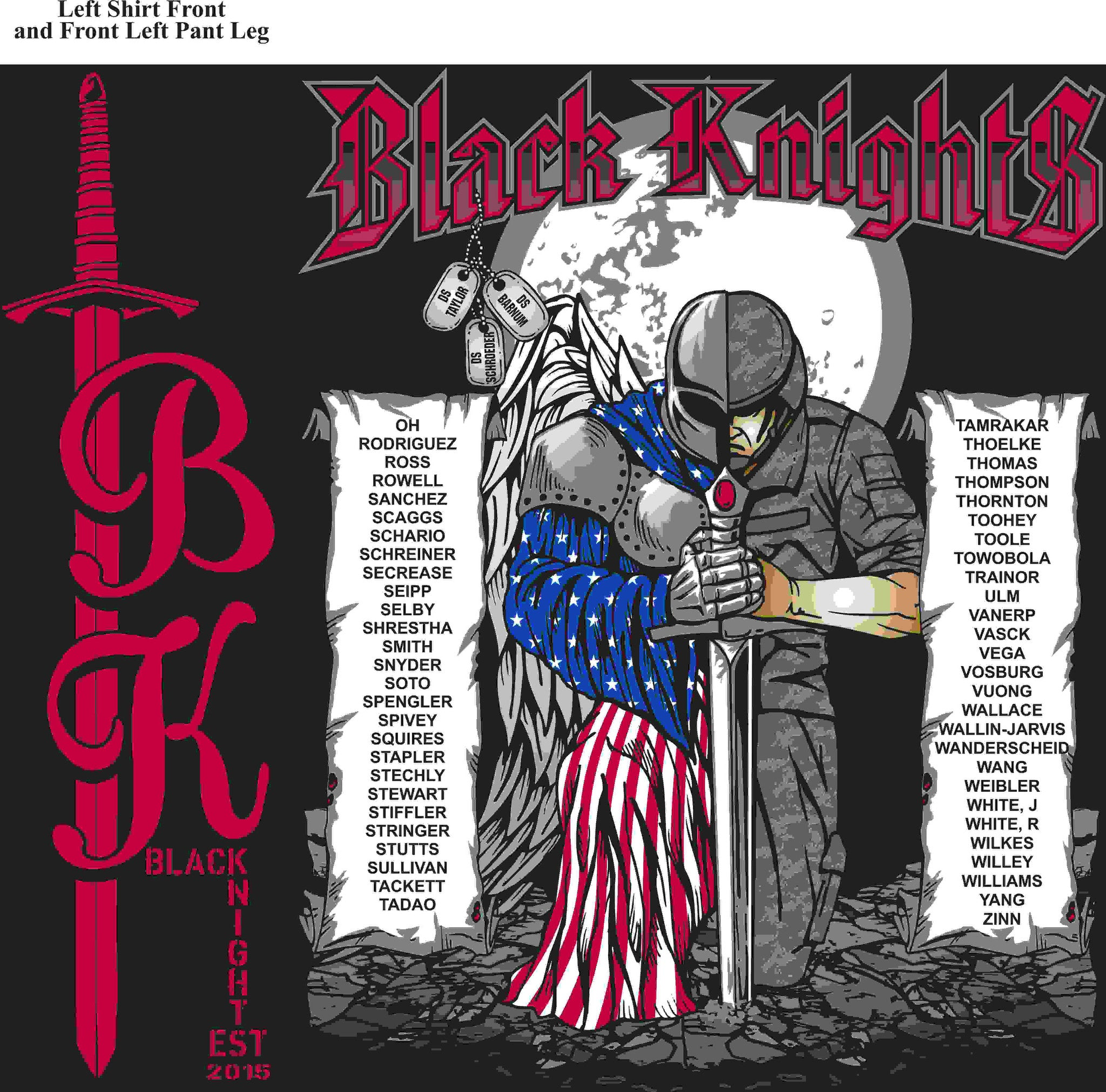 PLATOON SHIRTS (digital) CHARLIE 1st 79th BLACK KNIGHTS JAN 2016