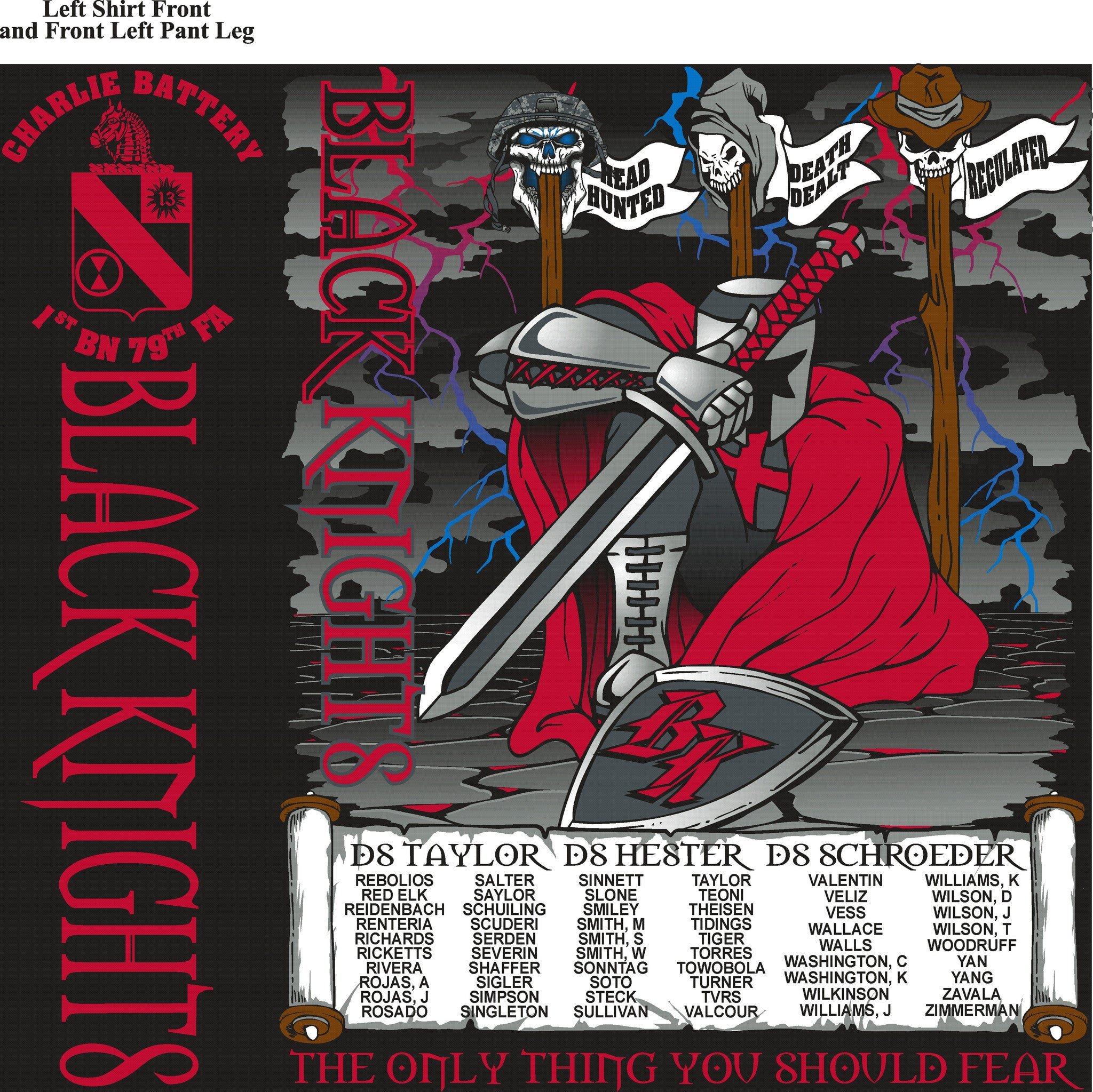 PLATOON SHIRTS (digital) CHARLE 1st 79th BLACK KNIGHTS OCT 2015