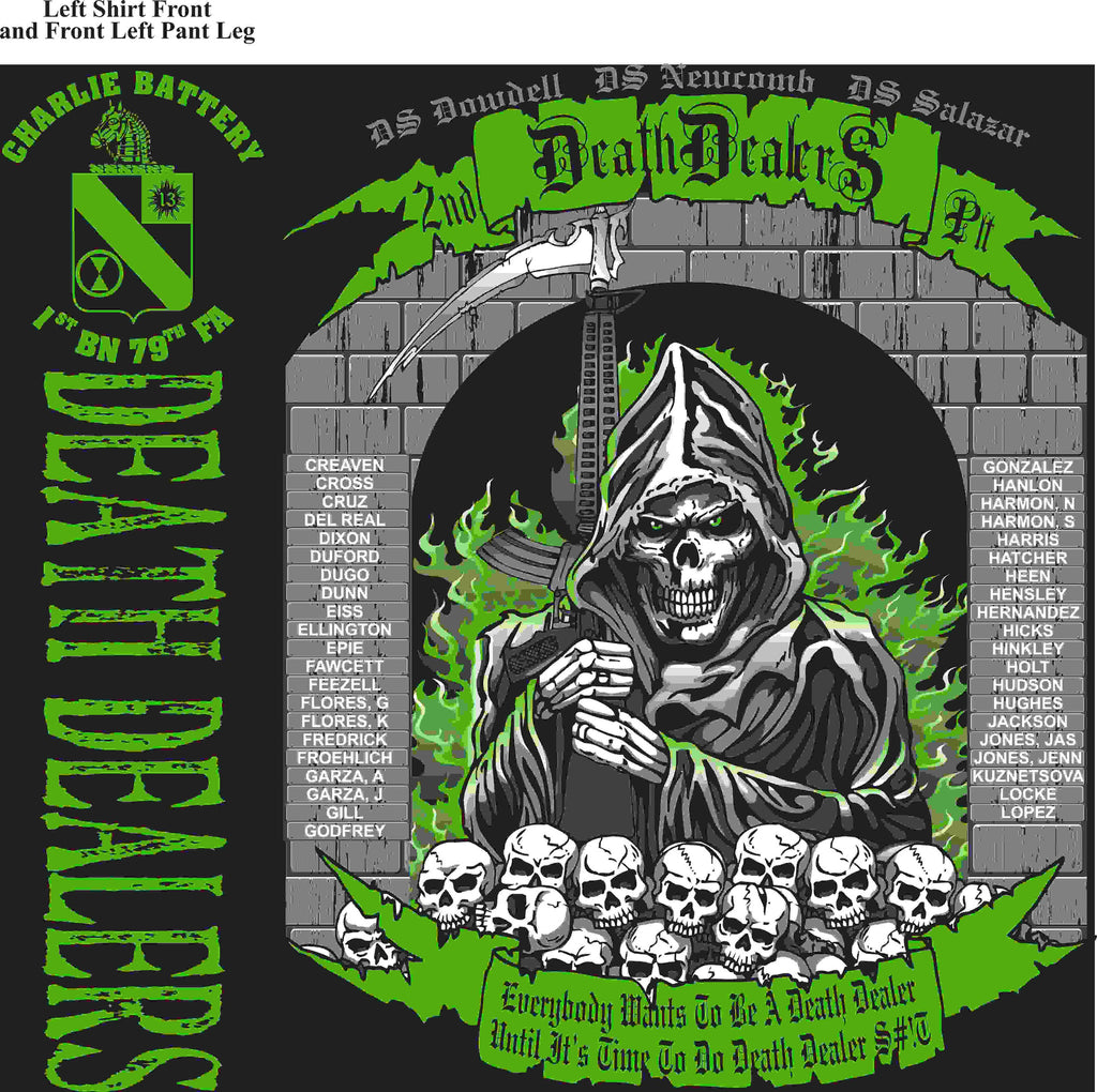 PLATOON SHIRTS (2nd generation print) CHARLIE 1st 79th DEATH DEALERS APR 2016